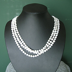 超長い淡水白真珠ネックレス フリースタイル(XS003)