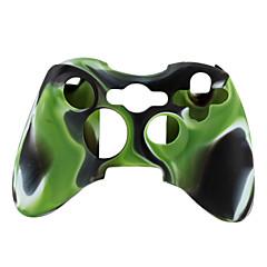 Xbox 360コントローラー(緑と黒)のための保護のデュアルカラーシリコンケース