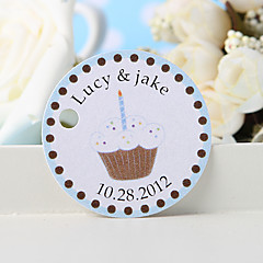 személyre szabott szívességi címke - fehér torta (36 készlet) esküvői kedvezmények