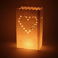 billige Bryllupsdekorasjoner-Stearinlys og lysestake Materiale / Hardt Kortpapir Bryllupsdekorasjoner Bryllup / Fest Vegas Tema / Bryllup Vår / Sommer / Høst