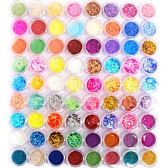 baratos Cuidados de Unhas-72 pcs Jóias de unha / Glitter & Poudre / Kits de decoração Abstracto / Fashion Diário Nail Art Design