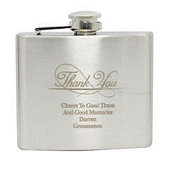 cheap Wedding Gifts-Stainless Steel Hip Flasks Groom Groomsman Wedding Birthday Thank You