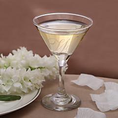 tanie Prezenty dla drużbów-spersonalizowane początkowa szkło martini