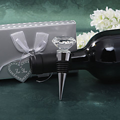 "Kristalli Bottle Favor Bottle Stoppers Puutarha-teema Non-personalised Hopea 3 1/2"" x 1 1/2"" (8,9*3,8cm)Gift box with a organza ribbon"