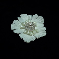 abordables Tocados de Fiesta-imitación de cristal perla satén fascinators flores casco estilo elegante