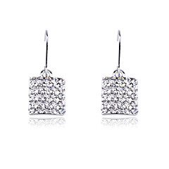 cheap Earrings-Women's 1 Drop Earrings Rhinestone Stainless Steel Jewelry Costume Jewelry