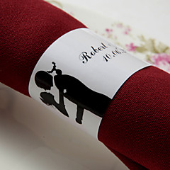 levne Svatební ubrousky-Svatební Ubrousky - 50pcs Kroužky na ubrousky Svatební Výročí Zásnuby Štando Klasický motiv