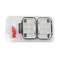 billige Fiskegrejer Kasser-Vanntett to lag Lure Box Tackle Box 11.5 * 7 * 4cm (Color tilfeldig)