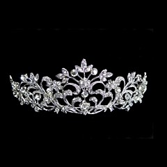 Women's Rhinestone Alloy Headpiece-Wedding Tiaras Elegant Style
