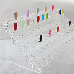 スタンドABSプラスチック透明(31x12x11cm)を示す72のヒントネイルアートのヒント