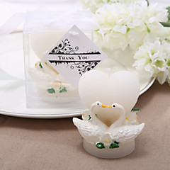 Beautiful Heart and Swan Design Candle (set of 4) Elegant Wedding Favors