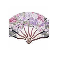 """Hedvábí Fanoušci a slunečníky-# Piece / Set Ruční ventilátor Květinový motiv 21 cm na výšku × 37 cm na šířku (8 ¼"""" V x 14 ½"""" Š)"""