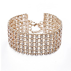 cheap Bracelets-Charming 18K Gold Plated with Crystal Bracelet More Colors Elegant Style