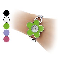 pentru Doamne Ceas Brățară Quartz Bandă Flori Brățară rigidă Argint Alb Negru Mov Verde Roz
