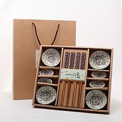 tanie -Narzędzia kuchenne-Asian Theme / Kwiatowy Motyw-Non-spersonalizowane(Czerwony / Zielony / Niebieski)Tależ / Pałeczki / Pałeczki Rest