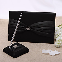 Guest Book Pen Set Satin Classic ThemeWithRhinestones Wedding Ceremony