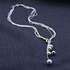 tanie Zestawy biżuterii-Damskie Zestawy biżuterii Naszyjniki z wisiorkami Kolczyk Srebro standardowe Srebrny Stop Wąż Podstawowy Ślubny Impreza Urodziny