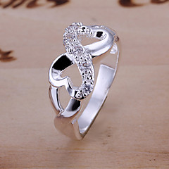 Women's Statement Rings Unique Design Personalized Costume Jewelry Luxury Silver Plated Alloy Infinity Jewelry Jewelry For Wedding Party