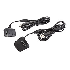 2X Black Wireless Controller Usb oplaadkabel Vervanging Lader voor Xbox 360