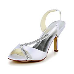 Satin Hochzeit Anlass Pfennigabsatz Sling Back & Pumps Sandalen & Heels (mehr Farben)