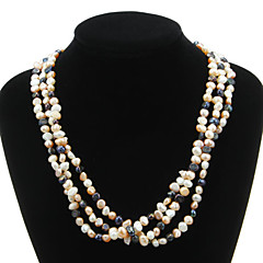 cheap Necklaces-Pretty Natural Pearl Strand Women's Necklace Classical Feminine Style