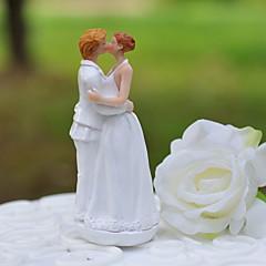 """billige Kakedekorasjoner-kake toppers """"sweet kiss"""" harpiks figurine kake topper"""