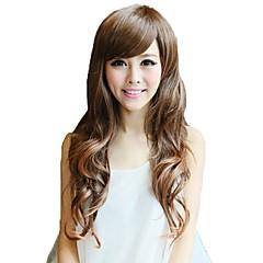 Χαμηλού Κόστους Προσφορά Χαλοουίν-Συνθετικές Περούκες Με αφέλειες Συνθετικά μαλλιά Περούκα Γυναικεία