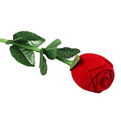 プロポーザルリング用のロマンチックな赤いバラのジュエリーボックス
