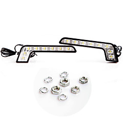 2 * Super Bright White 8 LED DRL Car dagrijverlichting Driving Light