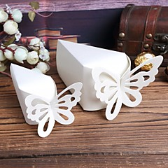 Pyramid Card Paper Favor Holder With Favor Boxes-10 Wedding Favors
