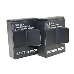 cheap Accessories For GoPro-2014 Hot  2 PCS AHDBT-301 Go pro rechargeable Digital Battery for gopro HD Hero Hero 3 & 3+ For Go Pro 1050mAh 3.7V