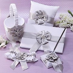 cheap Wedding Collection Sets-Classic Theme Collection Set 53 Faux Pearl Ribbons Chiffon