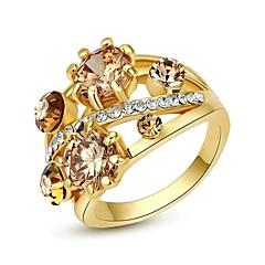 Anéis Casamento / Pesta / Casual Jóias Cristal / Chapeado Dourado Feminino Anéis Statement7 / 8 / 9 Dourado / Prateado