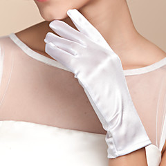 preiswerte Handschuhe für die Party-Satin Baumwolle Handgelenk-Länge Handschuh Charme Stilvoll Brauthandschuhe With Stickerei Einfarbig