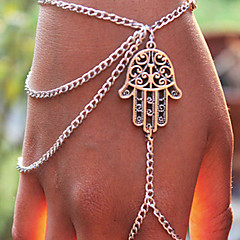 billiga -Dam Berlock Armband Ringarmband - Personlig Tofs Inspirerande Mode Europeisk Silver Armband Till Party Dagligen Casual