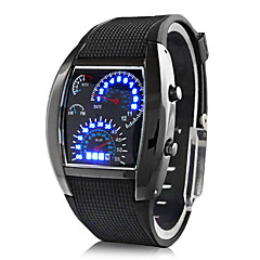 cheap Men's Watches-Men's Digital Wrist Watch Sport Watch Calendar / date / day LED Speedometer Rubber Band Creative Black