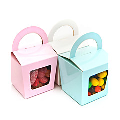 cheap Cake Boxes-Creative Cuboid Card Paper Favor Holder with Pattern Cupcake Wrapper and Boxes - 12