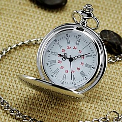 Men's Mirror Round Roman numeral Dial Vintage Quartz Analog Pocket Watch Cool Watch Unique Watch Fashion Watch