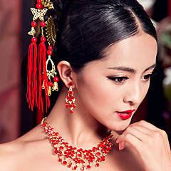 cheap Party Headpieces-Gemstone & Crystal Crystal Fabric Tiaras Headpiece with Crystal 1 Wedding Party / Evening Headpiece