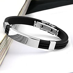 cheap -Men's Cuff Bracelet Personalized Fashion Stainless Steel Circle Jewelry For Daily Casual Sports