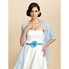 cheap Party Accessories-Sleeveless Chiffon Party Evening Casual Shawls Wedding  Wraps Shawls