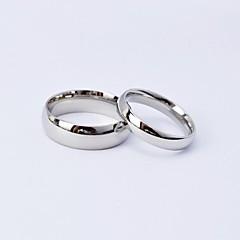 ieftine -Pentru cupluri Inele Cuplu - Oțel titan 5 / 6 / 7 Argintiu Pentru Zilnic / Casual