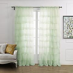 twopages® (egy panel rúd zseb) elegáns, minimalista világoszöld szilárd plicate puszta függöny