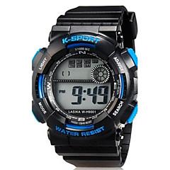 Дети Спортивные часы Наручные часы Повседневные часы Кварцевый LED силиконовый Группа Повседневная Черный