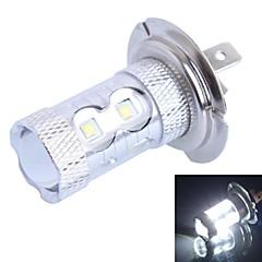billige Halogenpærer-50W H7 500LM 10 × Cree XBD R3 Hvite LED for bil Tåkelykte (DC12-24V, 1 stk)