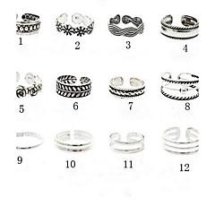 Damskie Biżuteria Pierścionki na palce stóp mankiet Pierścień Unikalny Europejski Postarzane biżuteria kostiumowa Modny Stop Flower Shape