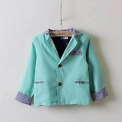 tanie Odzież dla chłopców-Garnitur / marynarka, Poliester Wiosna Jesień Długi rękaw Różowy Light Blue Light Green