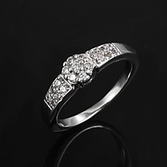お買い得  指輪-指輪 女性用 / 成人用 キュービックジルコニア 真鍮 真鍮 画像参照 装飾物のカラーは画像をご参照ください.