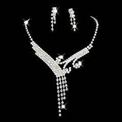 tanie -Damskie Rhinestone biżuteria kostiumowa Stop Na Ślub Impreza Specjalne okazje Urodziny Zaręczynowy Prezenty ślubne