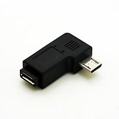 halpa -suorakulmaisen 90 asteen micro usb uros Micro USB naaras laajennussovitinta Conventer johto kaapeliliittimen ilmainen toimitus